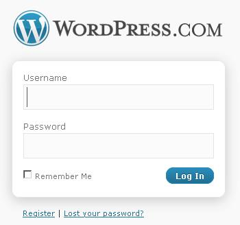 login blog wodpress.com